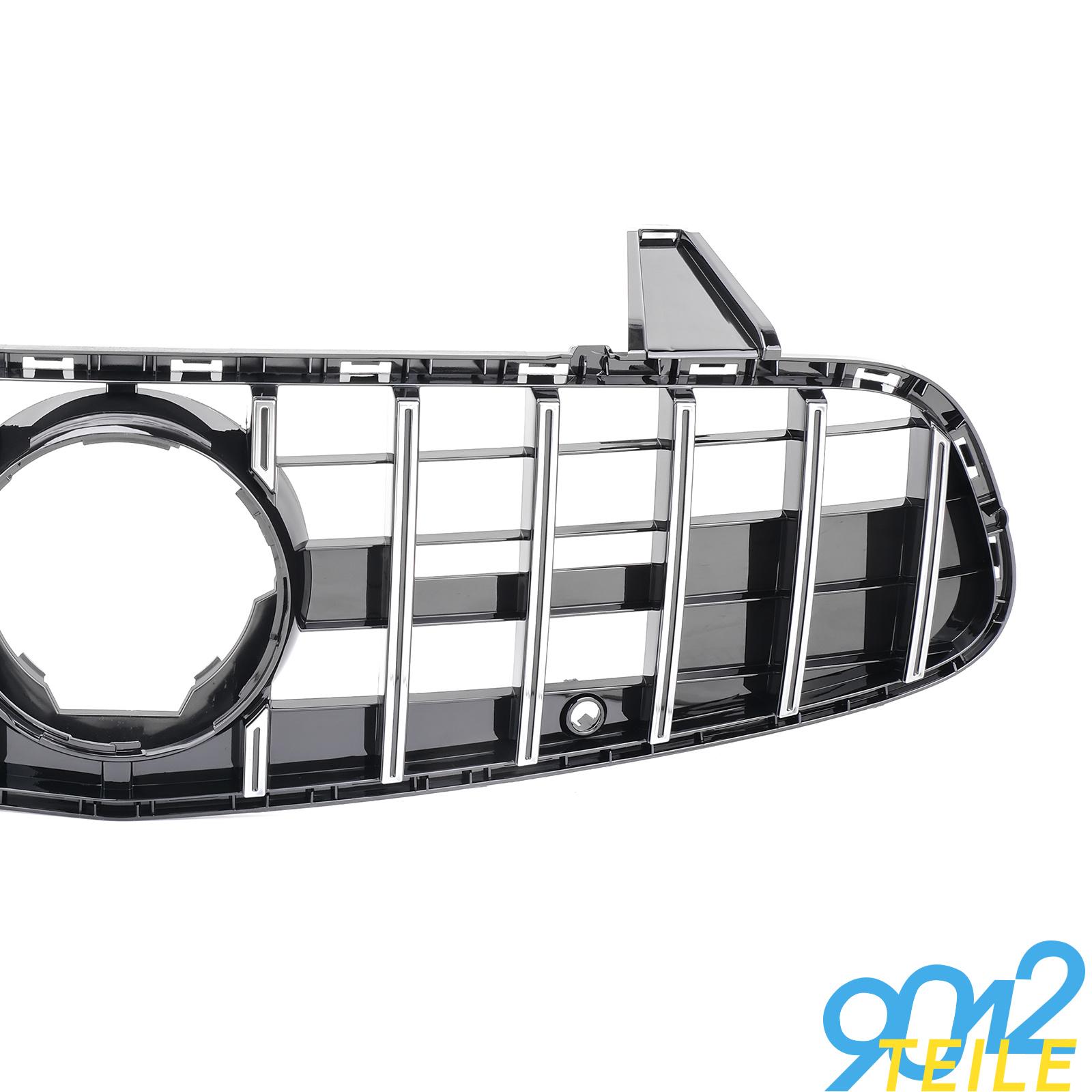 fuer-Mercedes-GT-LOOK-Grill-SL-Klasse-R231-W231-GLANZ-CHROM-Frontgrill-ab-2016 Indexbild 3